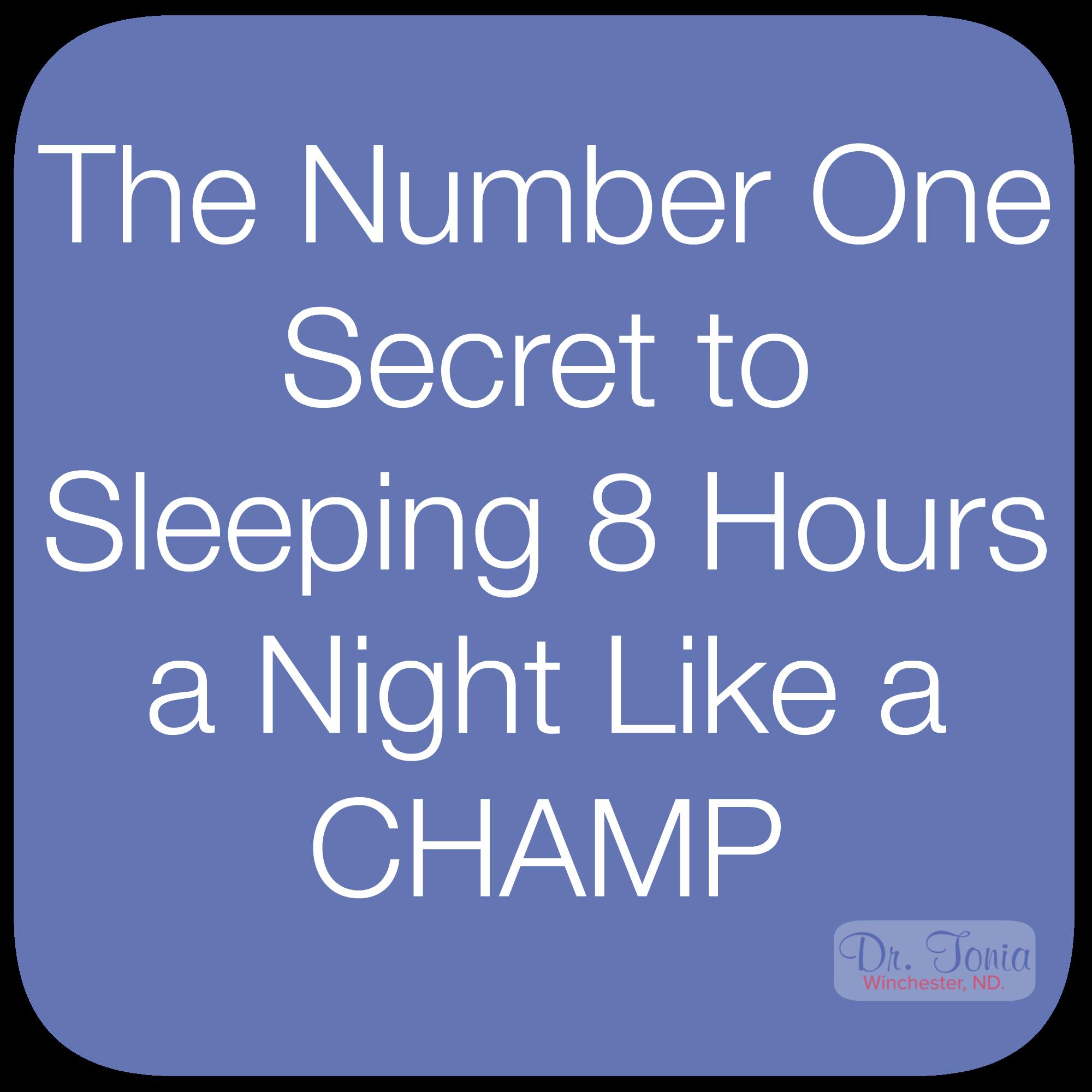 How To Sleep Like A Champ